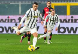 """Du vienuolikos metrų baudinius realizavęs C. Ronaldo padėjo """"Juventus"""" iškovoti pergalę prieš """"Genoa"""""""