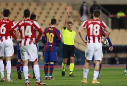 Aiškėja, kokios bausmės sulaukė agresyvumą parodęs L. Messi