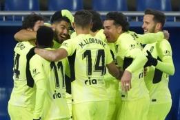 """Vėlyvas L. Suarezo įvartis padovanojo """"Atletico"""" dar tris taškus"""