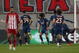 """""""Arsenal"""" ir """"Tottenham"""" užtikrintomis pergalėmis pradėjo Europos lygos aštuntfinalį"""