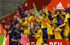 """Barca"" nesunkiai triumfavo ""Copa del Rey"" finale"
