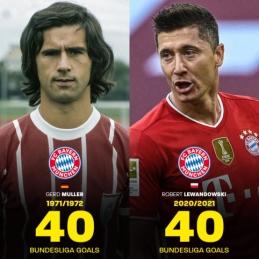 R. Lewandowskis pakartojo legendinio G. Mullerio rekordą