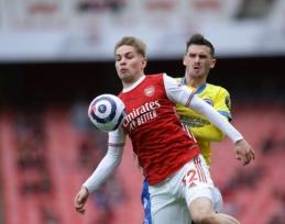 """""""Arsenal"""" atmetė dar vieną itin solidų pasiūlymą už E. Smithą Rowe"""