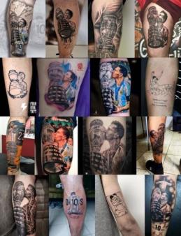 L. Messi gerbėjai puolė darytis triumfuojančio žaidėjo tatuiruotes
