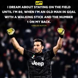 G. Buffonas svajoja dar ilgai žaisti futbolą