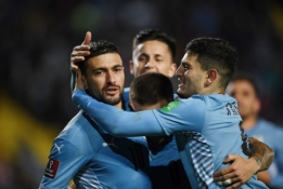 Pietų Amerikos atranka: Urugvajus iškovojo svarbią pergalę, Kolumbija suklupo prieš Paragvajų