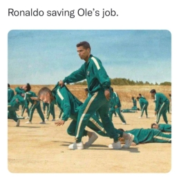 C. Ronaldo toliau gelbsti O. G. Solskjaero kailį