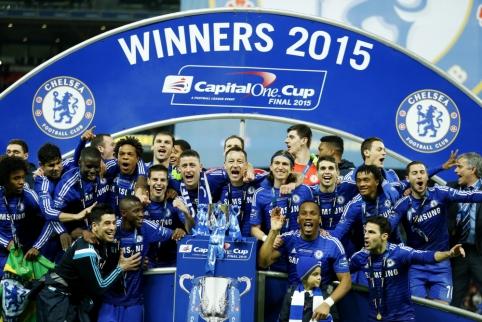 "Anglijos lygos taurės finale - ""Chelsea"" futbolininkų triumfas (VIDEO, FOTO)"