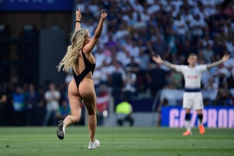 Paaiškėjo, kokio dydžio baudos sulauks Čempionų lygos finalo nuogalė