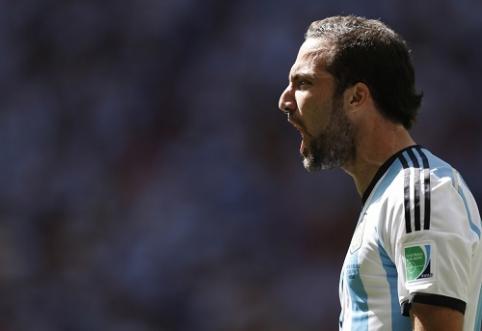 G.Higuaino įvartis išvedė Argentiną į pasaulio čempionato pusfinalį (VIDEO)
