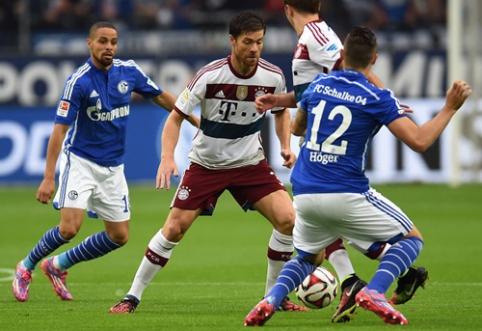 """Vokietijoje """"Bayern"""" ir """"Schalke"""" akistata baigėsi taikiai (VIDEO)"""