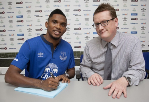 "Oficialu: S.Eto'o rungtyniaus ""Everton"" ekipoje"