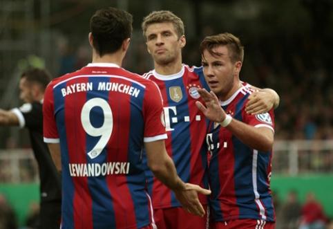 """""""Bayern"""" Vokietijos taurėje nepasigailėjo varžovo"""