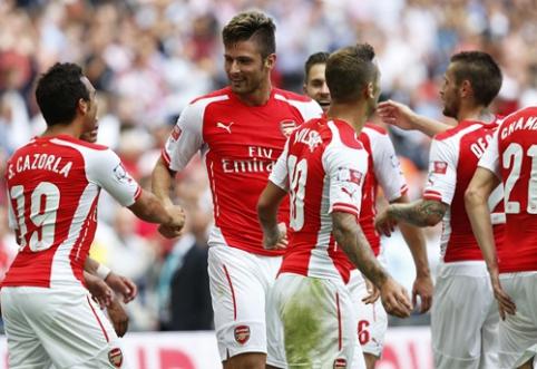"""""""Arsenal"""" futbolininkai sutriuškino """"Man City"""" ir iškovojo """"Community Shield"""" trofėjų (FOTO, VIDEO)"""