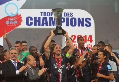 Z.Ibrahimovičiaus vedamas PSG klubas triumfavo Prancūzijos Supertaurėje (VIDEO)