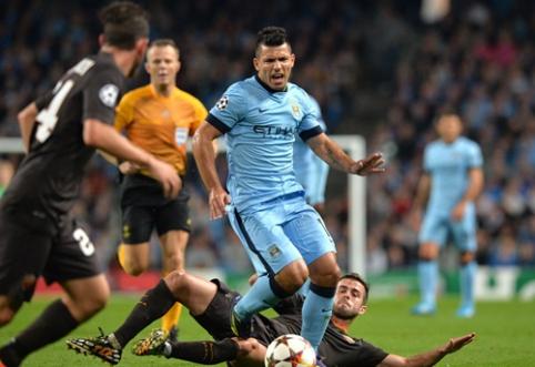 """Čempionų lygoje - """"Man City"""" ir """"Roma"""" lygiosios bei PSG pergalė prieš """"Barcą"""" (VIDEO)"""