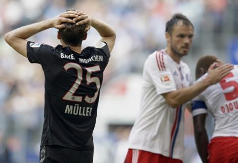 """""""Hamburger"""" namuose atsilaikė prieš """"Bayern"""", """"Borussia"""" pralaimėjo Maince"""