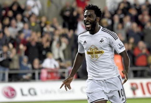 """""""Tottenham"""" ir """"Liverpool"""" dominęs W.Bony pasirašė naują kontraktą su """"Swansea"""""""