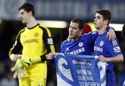"""H.Redknappas: E.Hazardas ir T.Courtois norėjo žaisti """"Tottenham"""" klube"""