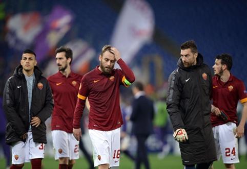 """UEFA Europos lygos aštuntfinalis: """"Roma"""" ir """"Everton"""" - sutriuškinti, """"Ajax"""" krito po pratęsimo (FOTO, VIDEO)"""