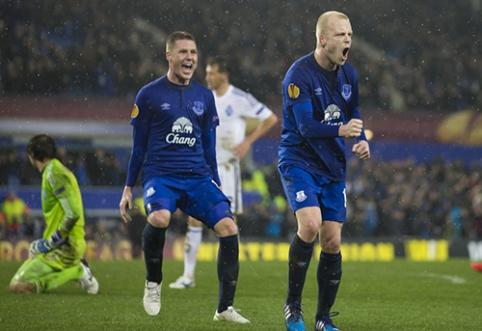 """Europos lygos aštuntfinalis: pergales šventė """"Wolfsburg"""", """"Zenit"""" ir """"Everton"""", Italijos derbis baigėsi lygiosiomis (VIDEO)"""