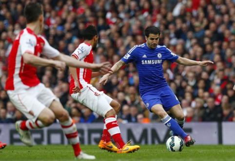 """""""Arsenal"""" ir """"Chelsea"""" akistatoje - lygiosios, """"Everton"""" namuose sutriuškino """"Man Utd"""" (VIDEO)"""