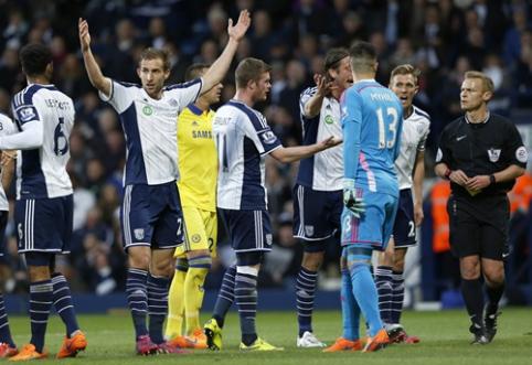 """Titulą savo rankose turinti """"Chelsea"""" ekipa buvo sutriuškinta Vest Bromiče (VIDEO)"""