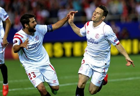 """Europos lygos pusfinaliai: """"Napoli"""" ir """"Dnipro"""" sužaidė lygiosiomis, o """"Sevilla"""" sutriuškino """"Fiorentina"""""""