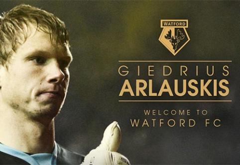 """Oficialu: Giedrius Arlauskis - """"Watford"""" žaidėjas"""