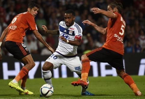 """""""Ligue 1"""" pirmenybėse - """"Lyon"""" ir """"Lorient"""" lygiosios"""