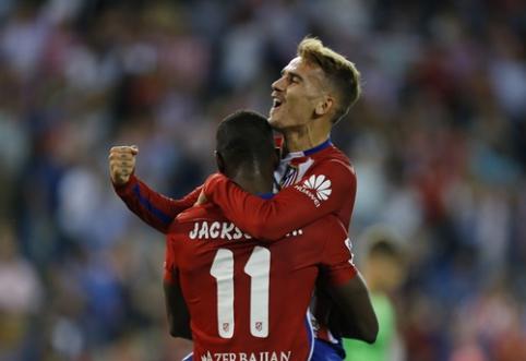 """A.Griezmannas eilinį kartą atvedė """"Atletico"""" į pergalę, """"Valencia"""" patyrė nesėkmė"""