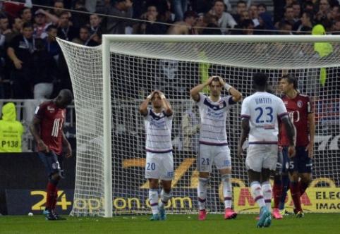 """Ligue 1: """"Lyon"""" prarado taškus, o """"Saint-Etienne"""" įveikė """"Montpellier"""" (VIDEO)"""