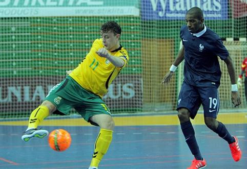 Lietuvos Futsal rinktinė neturėjo jokių šansų prieš prancūzus