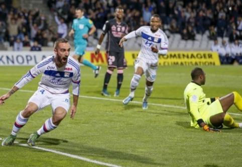 """""""Lyon"""" užtikrintai įveikė """"Toulouse"""", """"Nantes"""" nugalėjo """"Caen"""""""