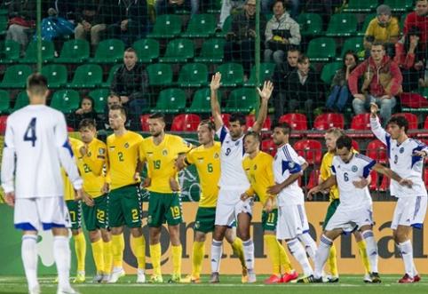 Lietuvos rinktinė FIFA reitinge pramušė dugną