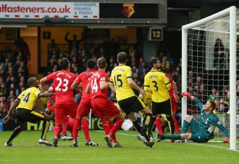 """Savo žiūrovų akivaizdoje žaidęs """"Watford"""" sutriuškino """"Liverpool"""" (VIDEO)"""