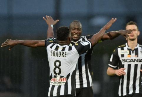 """""""Angers"""" sutriuškino """"Monaco"""" ir priartėjo prie antrosios vietos, """"Lyon"""" nusileido """"Bastia"""""""