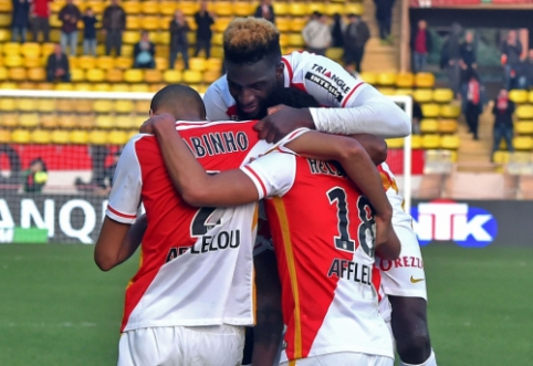 """""""Monaco"""" iškovojo triuškinančią pergalę, """"Lyon"""" ir """"Marseille"""" dvikovoje - lygiosios (VIDEO)"""