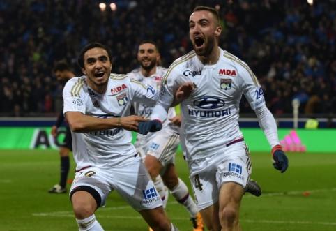 """PSG pirmąjį pralaimėjimą """"Ligue 1"""" patyrė prieš """"Lyon"""", """"Monaco"""" prarado taškus (VIDEO)"""