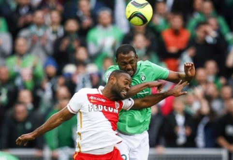 """""""Monaco"""" sužaidė lygiosiomis su """"Saint-Etienne"""", """"Nice"""" - su """"Marseille"""", o """"Lyon"""" įveikė """"Caen"""" (VIDEO)"""
