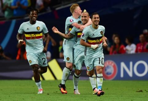 Lyg ant sparnų žaidę belgai sutriuškino vengrus ir žengė į ketvirtfinalį (FOTO, VIDEO)