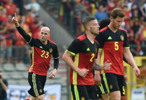"""""""EURO 2016"""" pasiruošimas: belgai po atkaklios kovos palaužė norvegus, švedai sutriuškino Velsą (VIDEO)"""