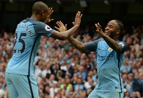 """R. Sterlingo dublis padėjo """"Man City"""" ekipai pasiekti pergalę prieš """"West Ham"""" (VIDEO)"""