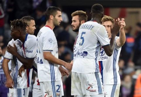 """""""Lyon"""" įveikė """"Toulouse"""", """"Monaco"""" sužaidė lygiosiomis su """"Saint-Etienne"""" (VIDEO)"""