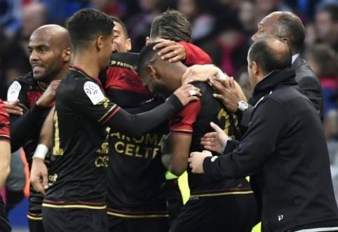 """""""Lyon"""" namie pralaimėjo """"Guingamp"""", """"Toulouse"""" neįveikė """"Angers"""" (VIDEO)"""