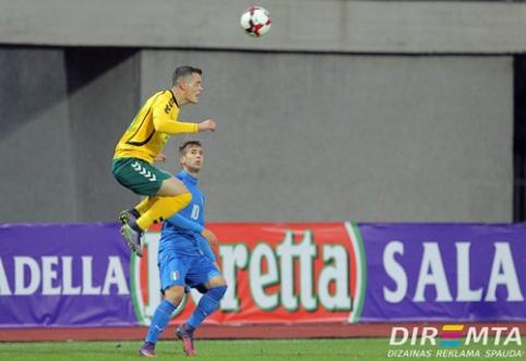 Europos čempionato atranką Lietuvos U-21 rinktinė baigė lygiosiomis su italais (VIDEO)
