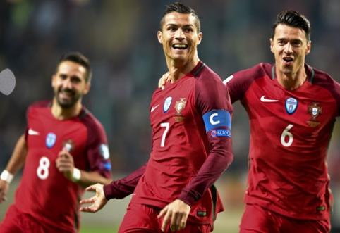 """PČ atrankoje - C. Ronaldo """"pokeris"""" ir lengvos belgų bei prancūzų pergalės (VIDEO)"""