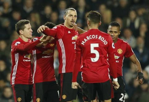 """Z. Ibrahimovičiaus dublis nulėmė """"Man Utd"""" pergalę, """"Leicester"""" išsigelbėjo paskutinėmis minutėmis (VIDEO)"""