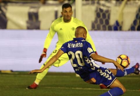 """""""Alaves"""" šventė pergalę Ispanijos pirmenybėse (VIDEO)"""