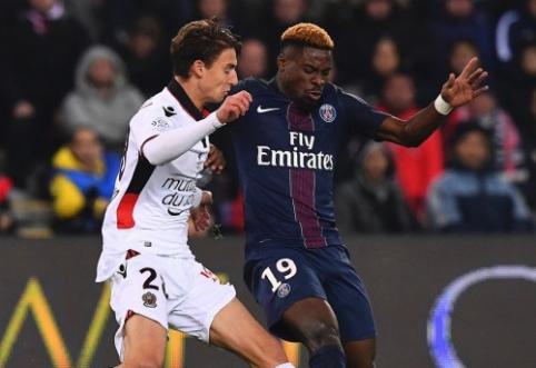 """Ligue 1: """"Lyon"""" iškovojo pergalę, o PSG išplėšė lygiąsias prieš """"Nice"""" (VIDEO)"""